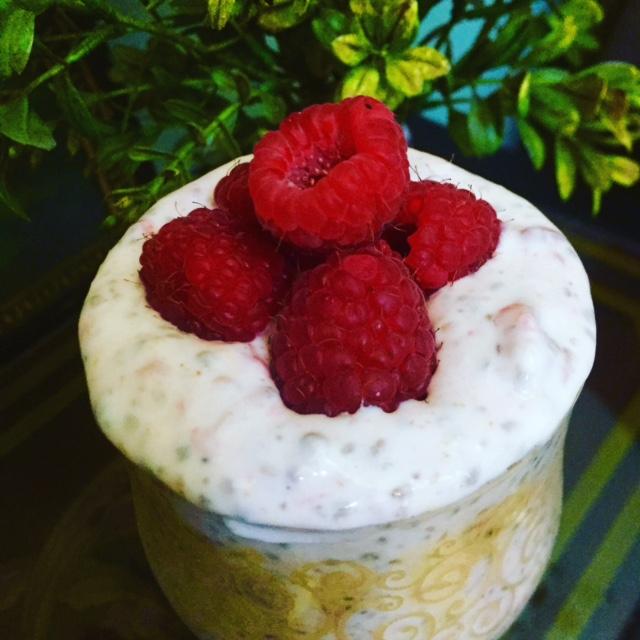 Raspberry Chia Seed Parfait