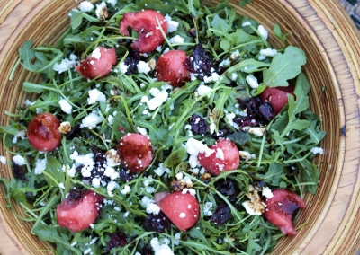 Watermelon Arugula Feta Salad
