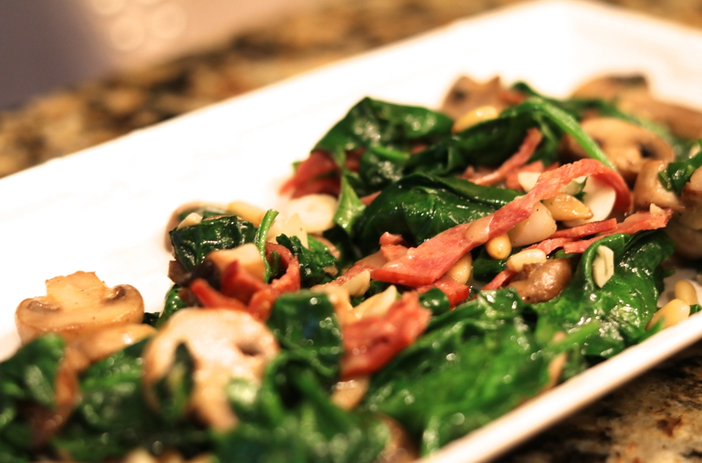 Sautéed Spinach With All the Goods!