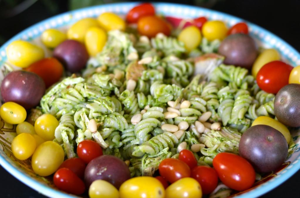Quinoa Pasta with Cilantro Pesto and Chicken