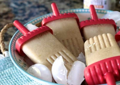 Peanut Butter Banana Popsicles