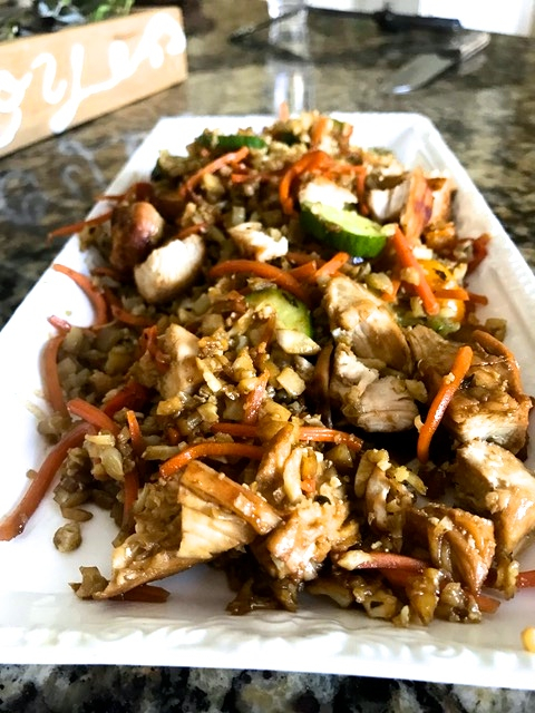 Teriyaki Chicken on Cauliflower Rice