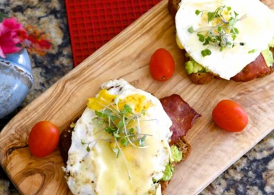 Avocado Egg and Bacon Toast