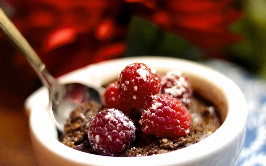 Healthy Chocolate Lava Molten Cake