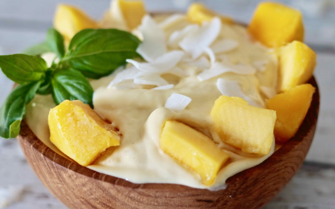 Creamy Mango Coconut Ice-cream