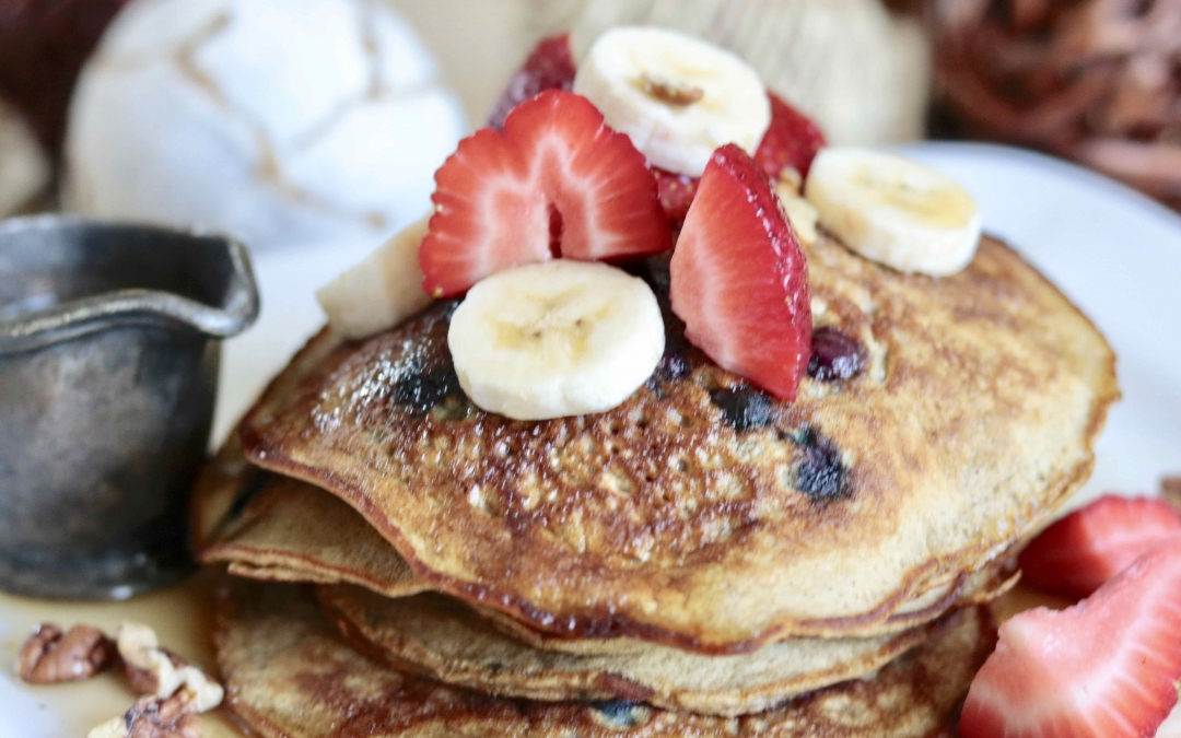 Gluten-Free Blueberry Banana Pancakes