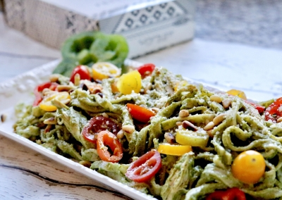 Cappello's Fettuccine with Cilantro Pesto