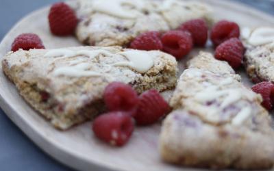 Gluten -Free Lemon Raspberry Scones